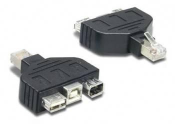 Переходник TrendNet RJ-45 (m)/3xFireWire 4p (m) (TC-NTUF)