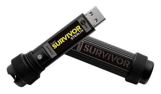 Флеш диск 32Gb Corsair Survivor Stealth USB3.0 черный - фото 3