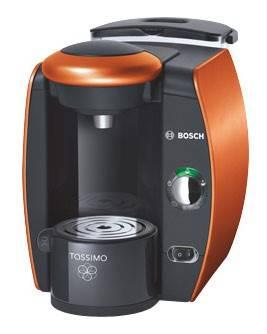 Кофемашина Bosch Tassimo TAS4014EE оранжевый, мощность 1600Вт, давление помпы 3.3Бар, объем резервуара для воды 2.0л