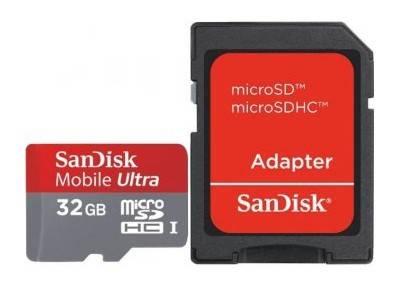 Карта памяти microSDHC 32Gb Class10 Sandisk Ultra SDSDQU-032G - фото 1
