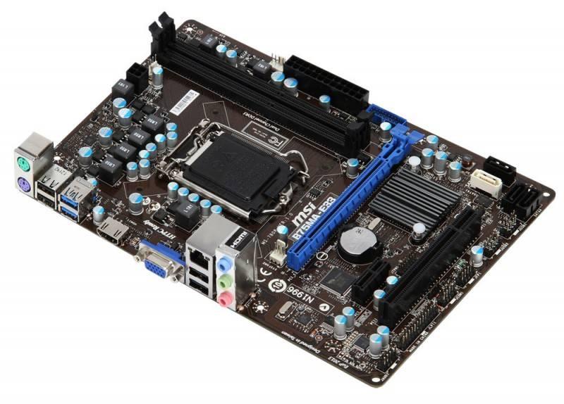 Материнская плата Soc-1155 MSI B75MA-E33 mATX - фото 1