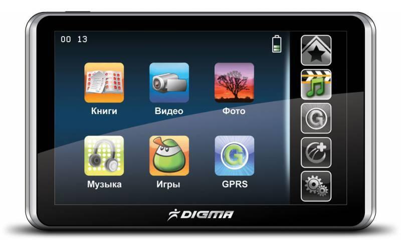 """GPS-навигатор Digma DM501C 5"""" черный - фото 1"""