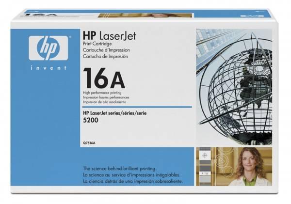 Тонер Картридж HP 16A Q7516A черный - фото 1