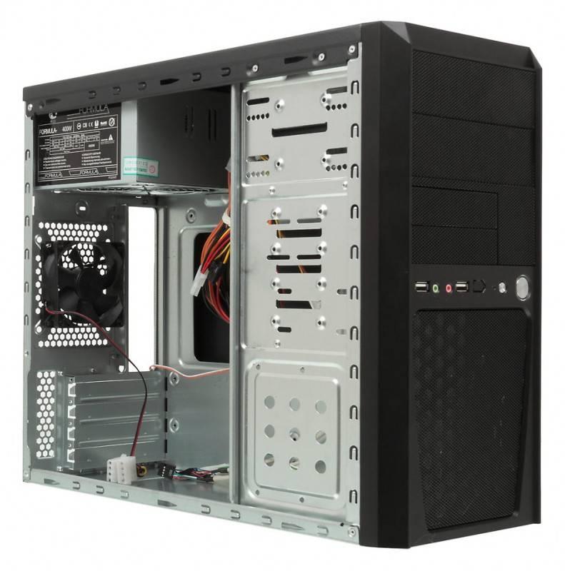 Корпус mATX 400W Formula FM-514D черный - фото 4