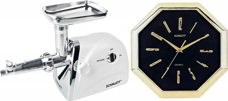 Мясорубка Scarlett SC-4248 + часы SC-45F белый - фото 2