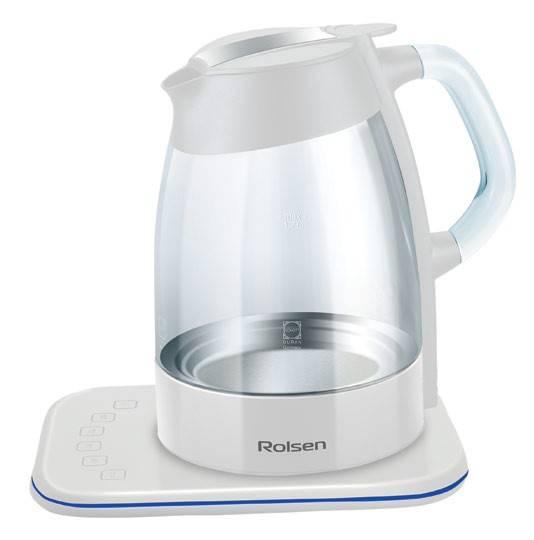 Чайник электрический Rolsen RK-3716GD белый - фото 1