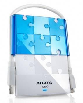 Внешний жесткий диск 1Tb A-Data HV610 DashDrive белый USB 3.0