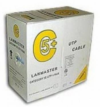 Кабель Lanmaster LAN-5EUTP-GY 305м