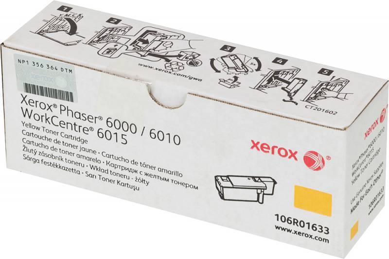 Тонер Картридж Xerox 106R01633 желтый - фото 1