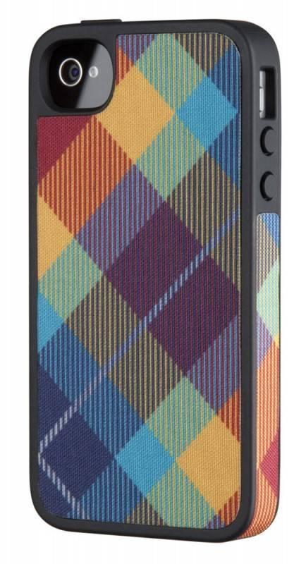 Чехол (клип-кейс) Speck FabShell MegaPlaid синий/оранжевый - фото 1