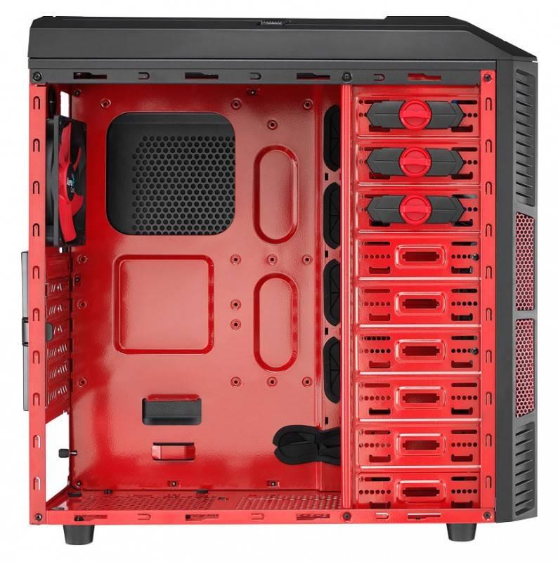 Корпус ATX Aerocool Xpredator X1 Devil черный/красный - фото 4