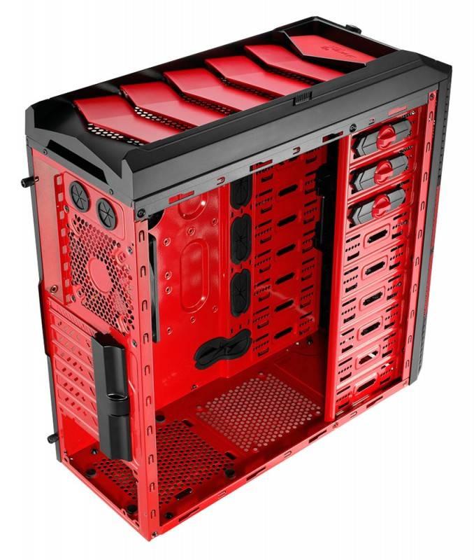 Корпус ATX Aerocool Xpredator X1 Devil черный/красный - фото 7