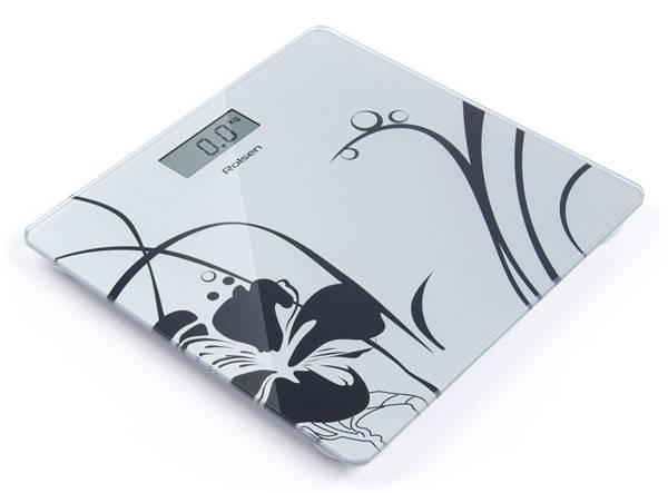 Весы напольные электронные Rolsen RSL1804 Glamour белый/рисунок - фото 1