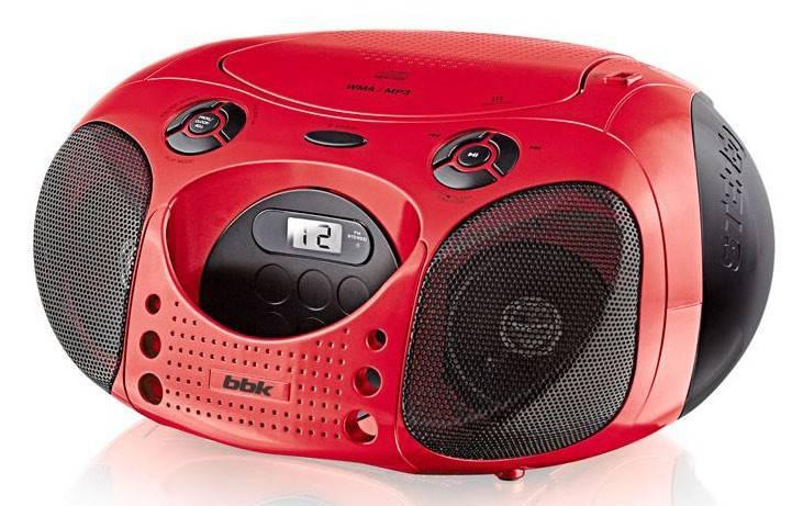 Магнитола BBK BX110U красный/черный - фото 1