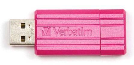 Флеш диск Verbatim PinStripe 16ГБ USB2.0 розовый - фото 1