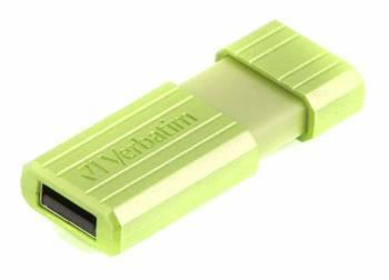 Флешка Verbatim PinStripe 16ГБ USB2.0 зеленый (49070)
