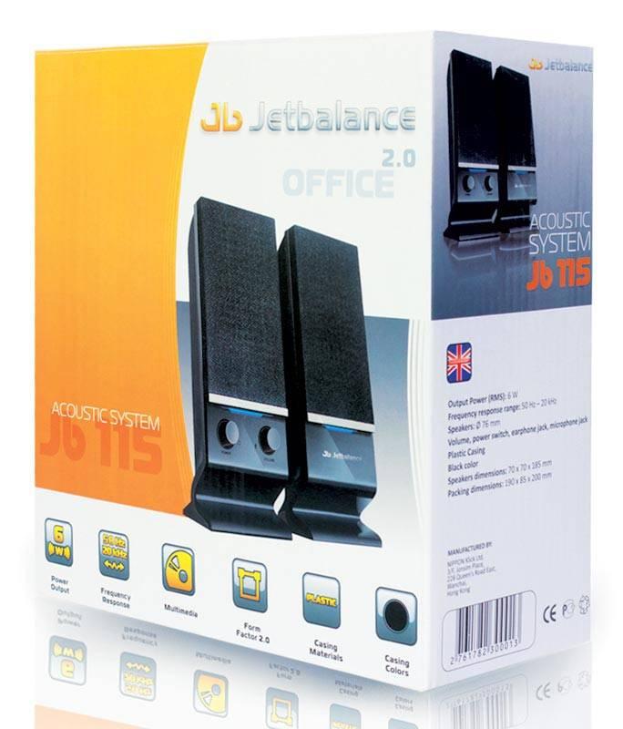 Колонки 2.0 Jetbalance JB-115U черный - фото 4