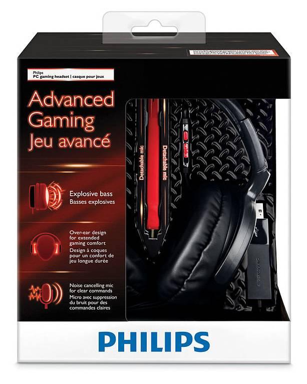Наушники с микрофоном Philips SHG7980/10 черный/красный - фото 5