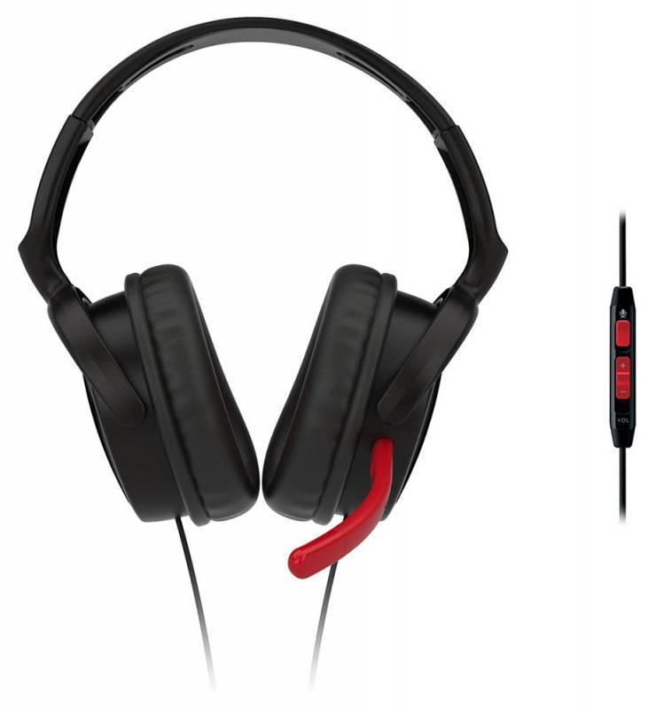 Наушники с микрофоном Philips SHG7980/10 черный/красный - фото 2