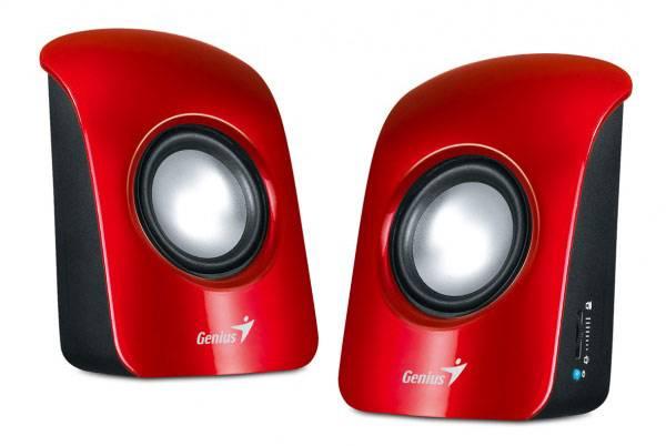Колонки 2.0 Genius SP-U115 красный - фото 1