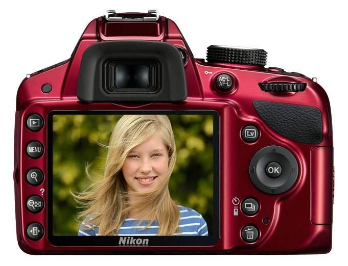 Фотоаппарат Nikon D3200 красный, 1 объектив AF-S DX NIKKOR 18-55mm f/3.5 - f/5.6G VR - фото 4