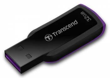 Флеш диск 32Gb Transcend Jetflash 360 USB2.0 черный / фиолетовый
