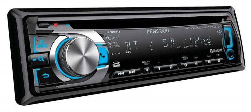 Автомагнитола Kenwood KDC-BT47SD  1 din 4x50Вт SDHC FM/AM - фото 1