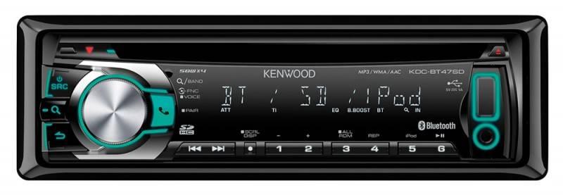 Автомагнитола Kenwood KDC-BT47SD  1 din 4x50Вт SDHC FM/AM - фото 2