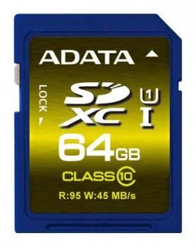 Карта памяти SDXC 64Gb Class10 A-Data ASDX64GUI1CL10-R