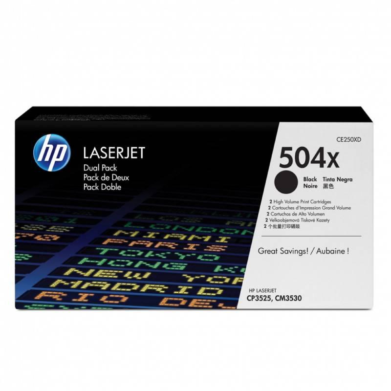 Тонер Картридж HP 504X CE250XD черный - фото 1