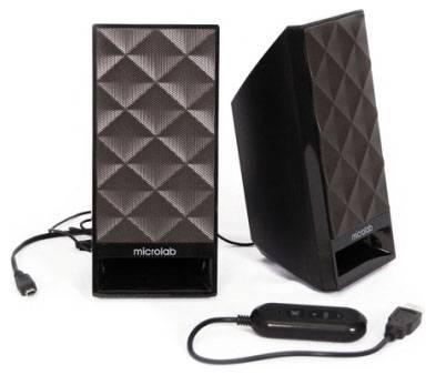 Колонки Microlab B53 черный, материал корпуса пластик, акустический тип 2.0, суммарная звуковая мощность 3Вт, питание от USB - фото 2
