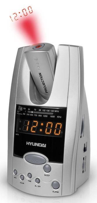Радиобудильник Hyundai H-1506 серебристый - фото 1