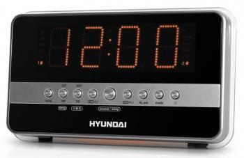 Радиобудильник Hyundai H-1549 серебристый