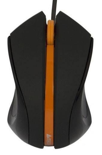 Мышь A4 D-310-3 черный/оранжевый - фото 1