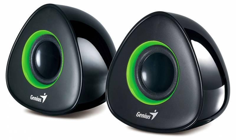 Акустическая система 2.0 Genius SP-U150X черный/зеленый - фото 1
