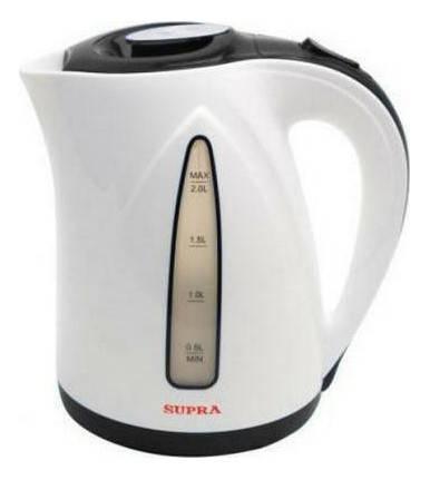 Чайник электрический Supra KES-2004 серый/белый - фото 1