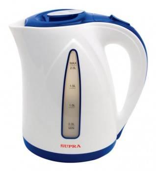 Чайник электрический Supra KES-2004 синий/белый (1562)