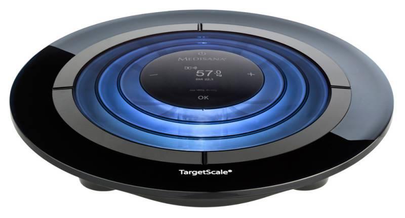 Весы напольные электронные Medisana Target Scale черный/голубой - фото 1