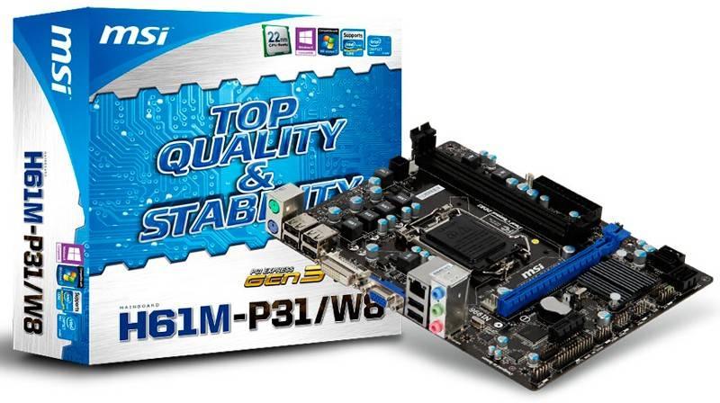Материнская плата Soc-1155 MSI H61M-P31/W8 mATX - фото 5