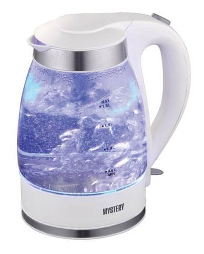 Чайник электрический Mystery MEK-1627 белый - фото 1