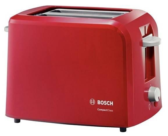 Тостер Bosch TAT3A014 красный - фото 1