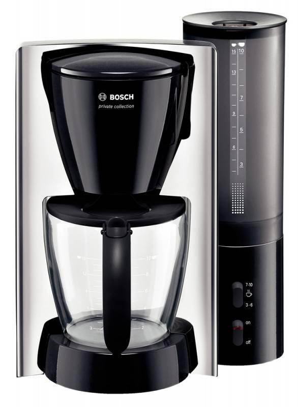 Кофеварка капельная Bosch TKA6323 черный/серебристый - фото 1