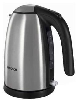Чайник электрический Bosch TWK7801 серебристый/черный