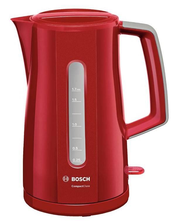 Чайник электрический Bosch TWK3A014 красный - фото 1
