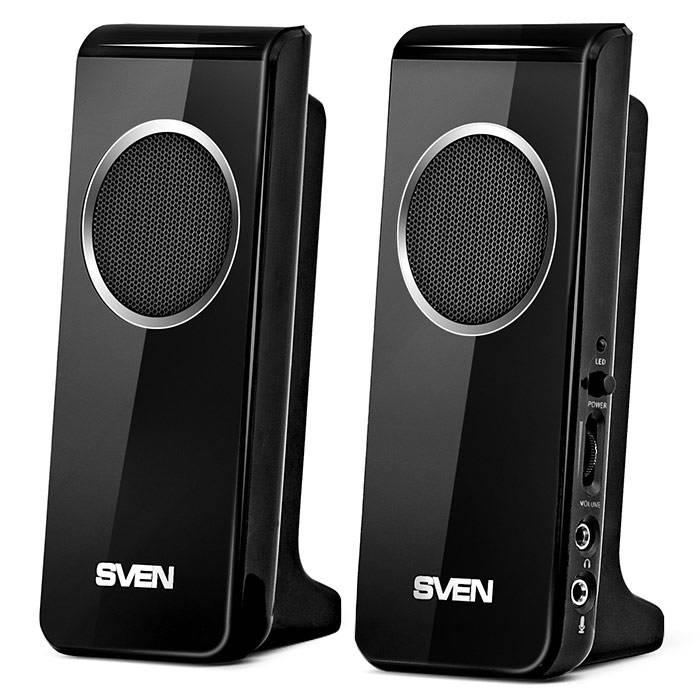 Колонки Sven 314 черный 2.0 - фото 1