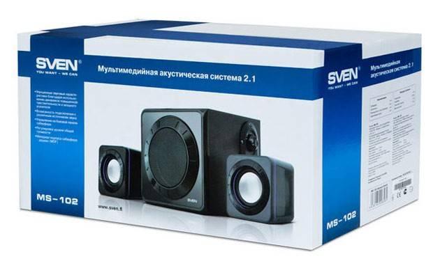 Колонки Sven MS-102 черный 2.1 - фото 4