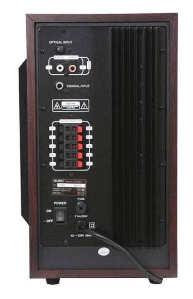 Колонки 5.1 Sven HT-435D коричневый/вишня - фото 5