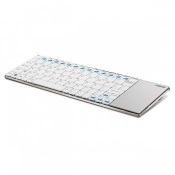 Клавиатура Rapoo E2700 Smart TV белый / серебристый