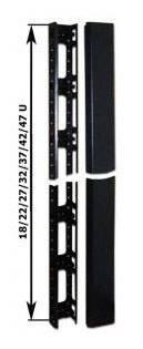 Кабельный органайзер Вертикальный Lanmaster TWT-CBB-ORG42U односторонний