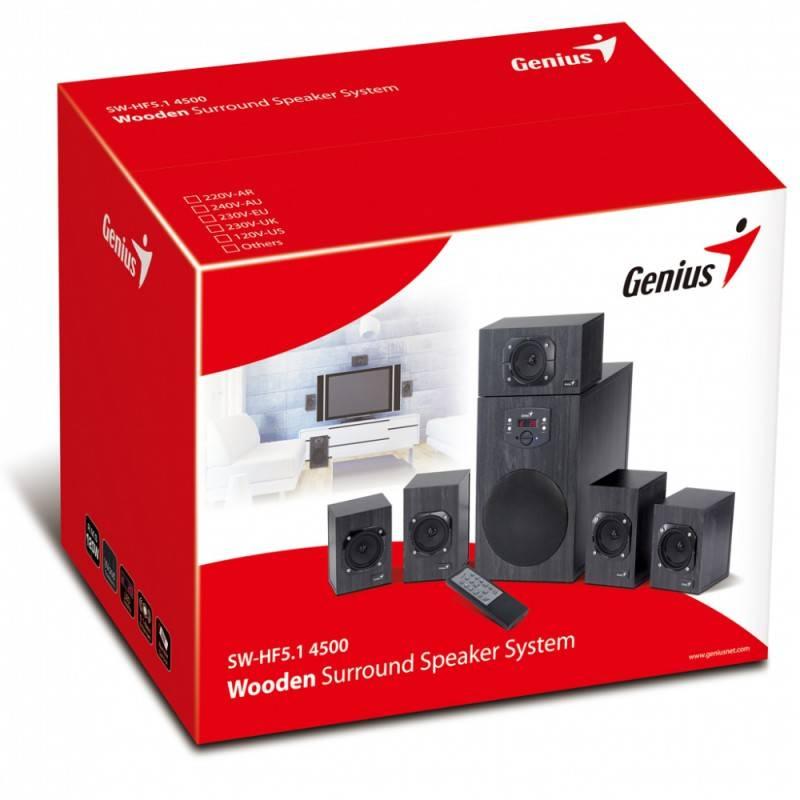 Колонки Genius SW-HF5.1 4500 черный 5.1 - фото 5